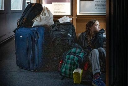 Greta Thunberg se va a casa en tren, cabreada como un mono por la pifia de la 25 Cumbre del Clima