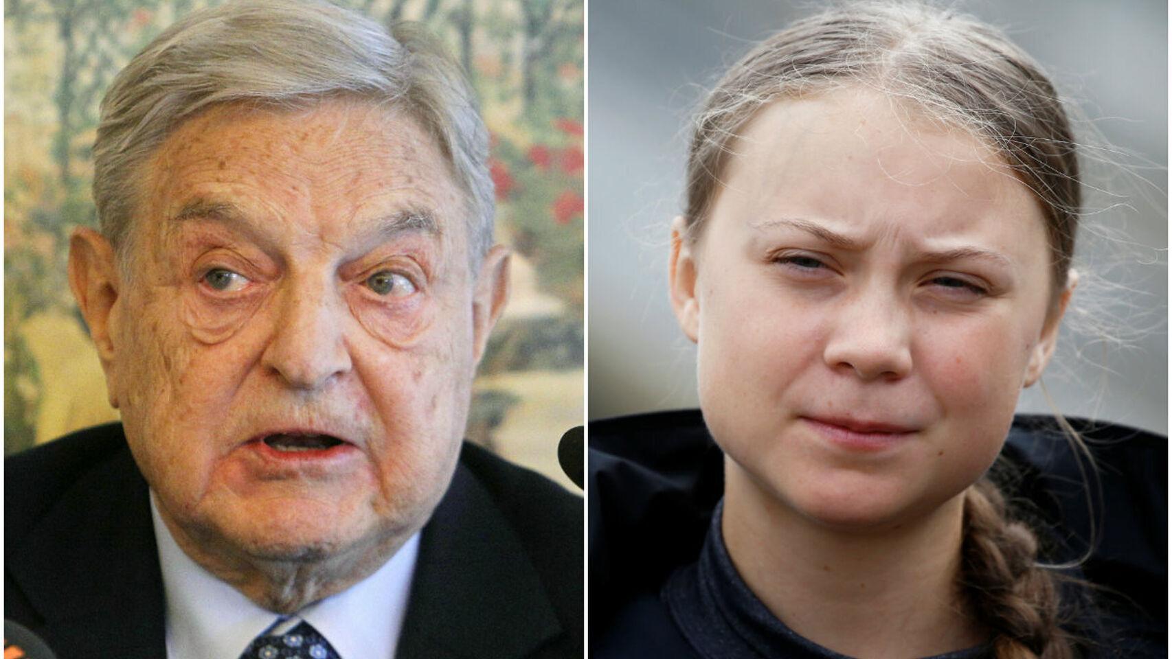 Así es la relación entre la activista Greta Thunberg y el millonario George Soros que cabrea a internet