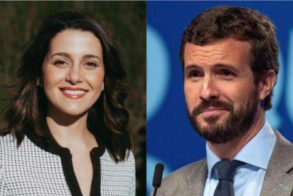 Arrimadas y Casado se unen y se reparten el próximo pastel electoral: Cataluña para C's y Galicia y el País Vasco para el PP