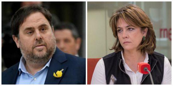 El golpista Junqueras incendia La Moncloa por los cuatro costados y deja completamente carbonizada a Dolores Delgado