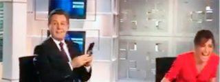 José Ribagorda y Ángeles Blanco se quedan perplejos ante lo que les ocurrió en pleno directo de Informativos Telecinco