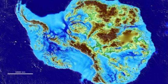 Este mapa te muestra cómo será la Antártida si se derrite el hielo y sube el nivel del mar