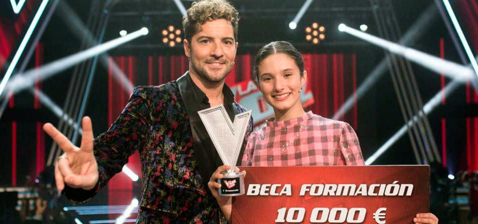 La madrileña Irene Gil gana 'La Voz Kids' imponiéndose al pequeño Daniel García en una emocionante final