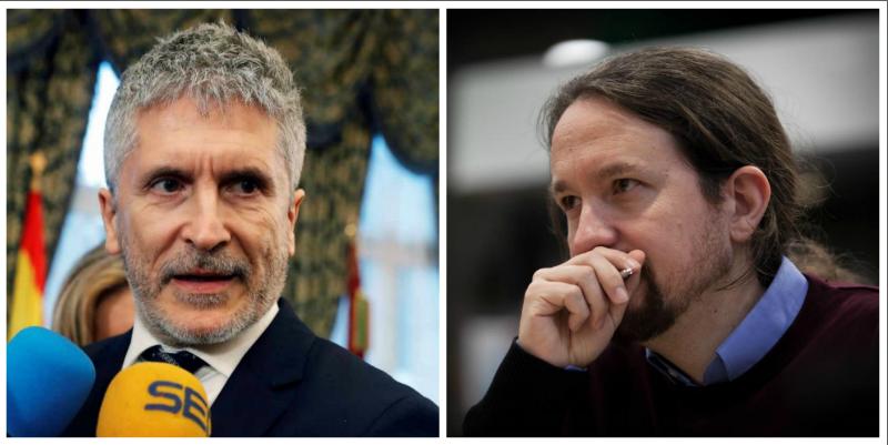 El Gobierno de Sánchez, entregado a Podemos: El guiño de Marlaska a Iglesias preguntando a los opositores a policía por cómo se escribe casoplón