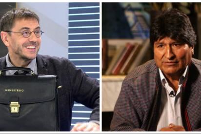 Monedero borra su millonaria 'neurona virtual' tras la morterada de 1,5 millones de euros dados a dedo por Evo Morales