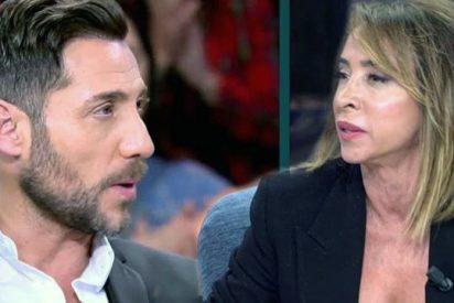 María Patiño para los pies en directo a un 'crecidito' Antonio David Flores