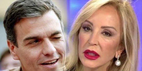 El besito cursi de Pedro Sánchez tras este 'coletudo' comentario de Carmen Lomana