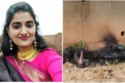 Los camioneros se ofrecieron a ayudarla a arreglar el pinchazo de la moto y la violaron en grupo antes de quemarla viva