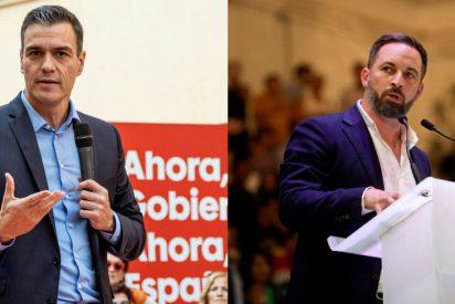 La palabra con la que Abascal retrata a Sánchez por congelar las pensiones hasta que haya Gobierno empieza por 'm' y acaba en 'o'