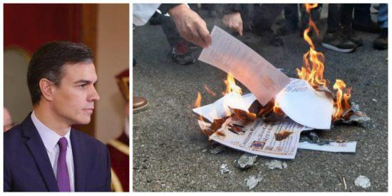 Los malabarismos de 'Fraude' Sánchez: dice apoyar la Constitución y negocia a la vez con quienes la queman en la hoguera