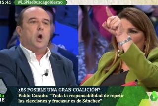 """Bronca monumental en laSexta Noche entre Claver y Maraña: """"Tú eres un comisario político que defiende las consignas que marca Moncloa"""""""