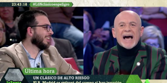El Quilombo / Alfredo Duro les hace un traje a los 'hooligans' separatistas de laSexta Noche: