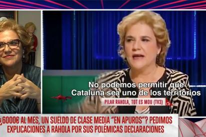 """Rahola, que cobra más de 50.000 euros de la TV3, dice que ganar 6.000 euros mensuales """"es de clase media apurada"""""""