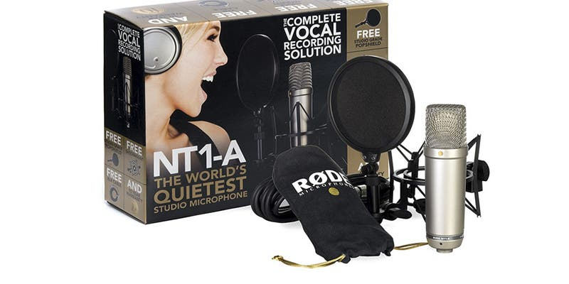 Si buscas un buen micrófono de diafragma para tu estudio, te recomiendo el Rode NT1A