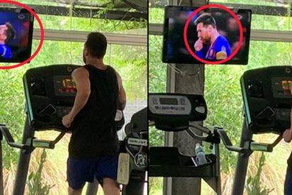 Pillan a Messi viendo sus propios goles mientras entrena y le llueven los memes en Twitter