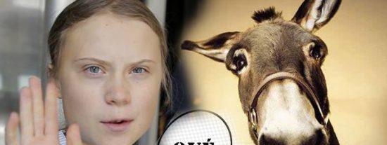 Le ofrecen a Greta Thunberg un burro para viajar desde Lisboa a la Cumbre del Clima en Madrid