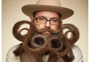 El vello facial más creativo en los Campeonatos de barba y bigote 2019