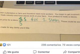 ¡Polémica!: Un profesor en EE.UU pide como tarea a sus alumnos que establezcan el precio de un esclavo