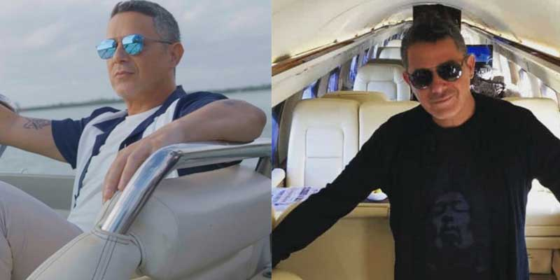 """VOX retrata al """"millonario"""" progre Alejandro Sanz por tener el papo de exigir sacrificios por el clima mientras él contamina con sus yates y cochazos"""