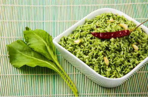 arroz con espinacas