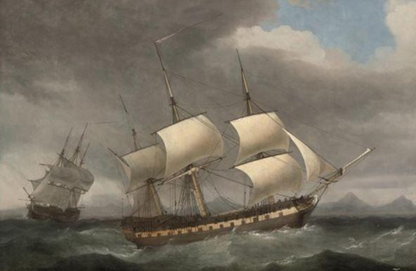 Compañía de las Indias Orientales. barcos
