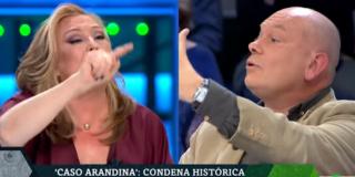 Elisa Beni salta como una posesa sobre un Gabriel Sanz al que pretende amordazar por decir que falló la educación en el 'caso Arandina'