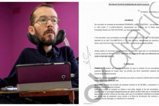 El escándalo de los sobresueldos salpica a Echenique: Podemos le pagó dos años el alquiler de su casa en un barrio de lujo de Madrid