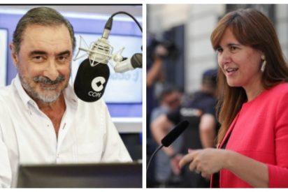 """Carlos Herrera se cachondea sin piedad de la golpista Laura Borràs: """"Corazón, el derecho de autodeterminación no existe"""""""