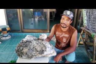 Este hombre encuentra vómito de ballena valorado en más de medio millón de dólares