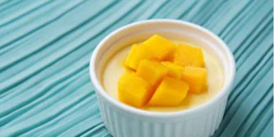 Mousse de mango fácil