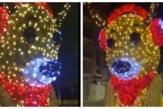 El Quilombo / 'Hackean' un muñeco de Navidad en Viladecans para que salude con un '¡Viva España! ¡Muerte a los rojos!'