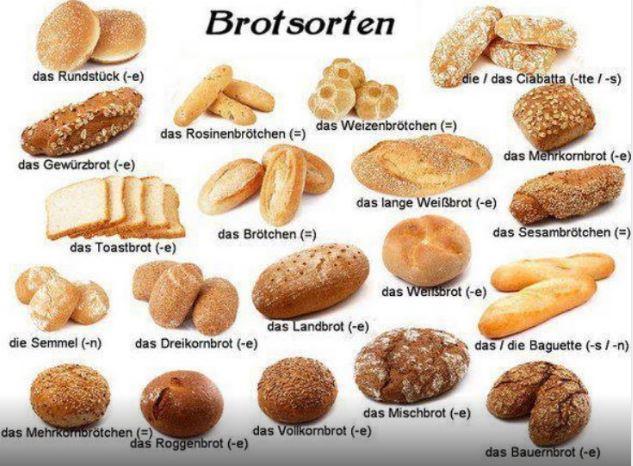 variedades de pan alemán