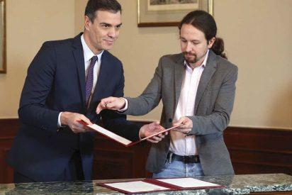 Sánchez e Iglesias 'vetan' a los periodistas españoles, que responden con un comunicado demoledor