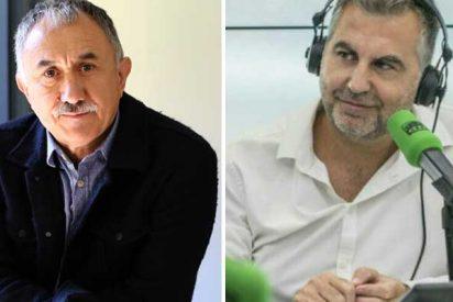 """Alsina acorrala de tal manera a Pepe Álvarez, sindicalista afín a Junqueras, que el de UGT huye despavorido: """"Le tengo que cortar"""""""