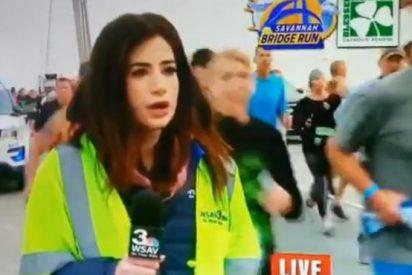 ¿Sabías que el maratoniano que le dió una nalgada a esta reportera es pastor en la Iglesia de su pueblo y líder de los boy scouts?
