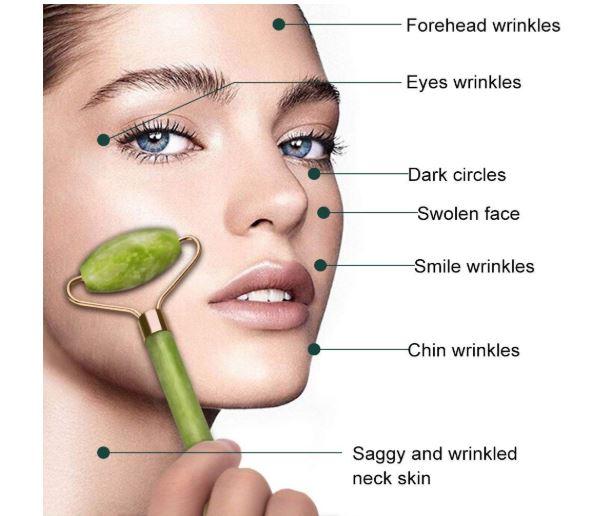 rodillo de jade para la piel