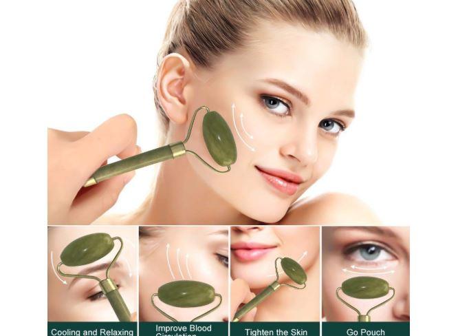 rodillo de jade para disminuir ojeras