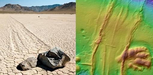 Descubren el rastro de esta inquietante piedra reptante que se movía sola entre los dinosaurios