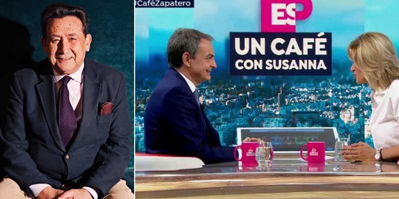 """Ussía pone de vuelta y media a su 'compañera' Susanna Griso por su masaje a Zapatero: """"Regala suavidad a los que gozan de sus simpatías"""""""