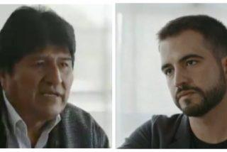 Las redes se parten de risa con la cara de estreñido que se le queda al presentador de TV3 tras el corte que le pega Evo Morales