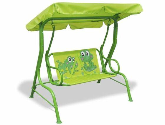 Balancín de jardín para niños de acero y tela