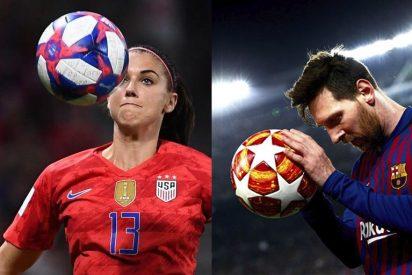 Messi gana 274 veces más que la futbolista mejor pagada, Alex Morgan