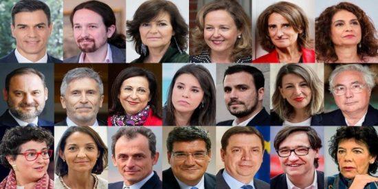Pedro Sánchez, los vicepresidentes y ministros se aumentan su sueldazo y dejan en migajas la subida a los pensionistas y funcionarios