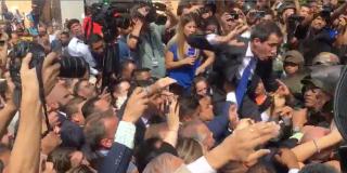 Venezuela: el desesperado intento de Juan Guaidó de entrar a la Asamblea Nacional