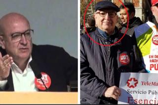 Periodista Digital encuentra al sindicalista OVNI de Telemadrid: el liberado sindical más buscado es visto protestando contra Ayuso