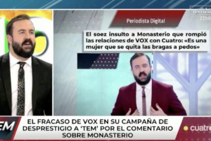 'Todo es mentira' y patético: la panda de Risto se defiende de su vulgaridad con Rocío Monasterio riéndose de un político discapacitado