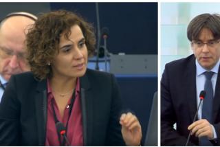Dolors Montserrat empitona al prófugo Carles Puigdemont en el Parlamento Europeo