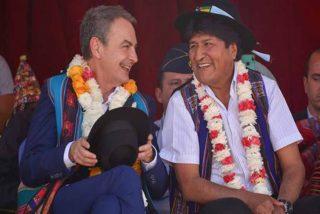 """La desvergüenza de Zapatero y sus amigos del Grupo de Puebla: defienden a Evo y denuncian al gobierno """"golpista"""" de Bolivia"""