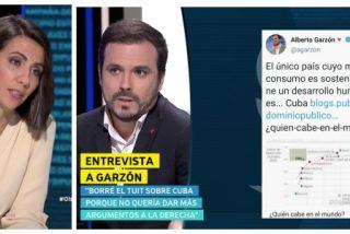 """El comunista Garzón blanquea a la dictadura cubana en laSexta: """"Siendo un país muy pobre supo gestionar sus dificultades"""""""