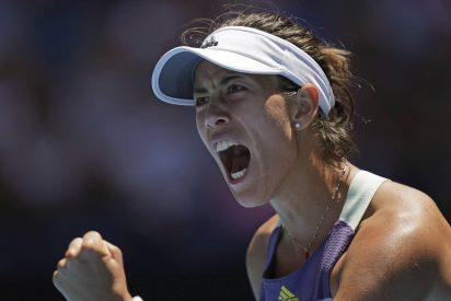 El relajado estreno de Muguruza en Wimbledon